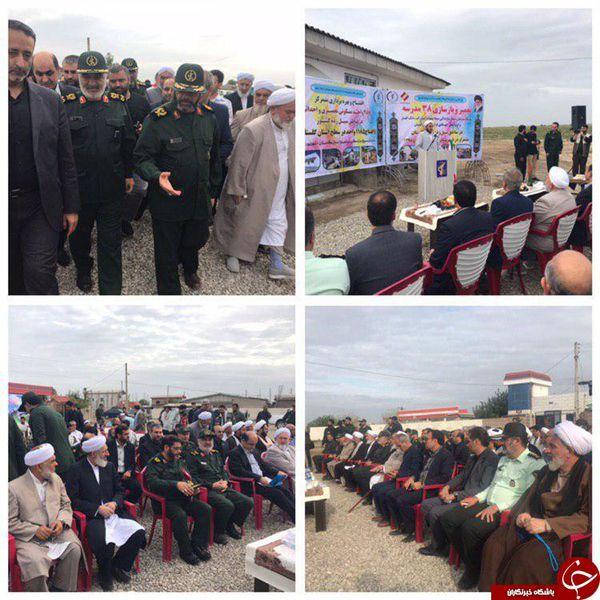 فرمانده کل سپاه از آق قلا بازدید کرد + عکس