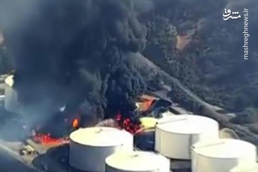 فیلم/ آتشسوزی شدید دو مخزن نفت در سانفرانسیکو