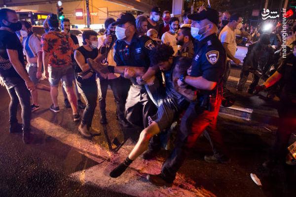 فیلم/ جمعیت معترضان به نتانیاهو در خیابانها
