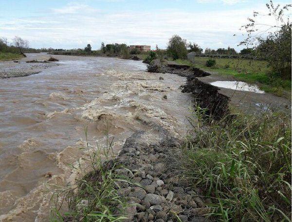 سیلاب به حوزه استحفاظی گمیشان رسید/ تقویت دایک های حفاظتی