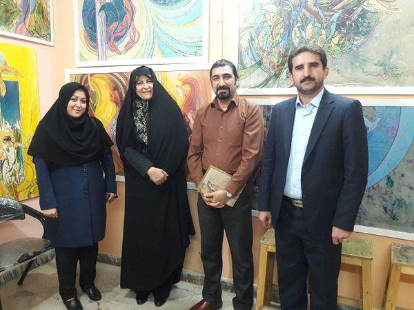 دیدار مدیر کل فرهنگ و ارشاد اسلامی گلستان با چهره مطرح هنری و پویانمایی استان