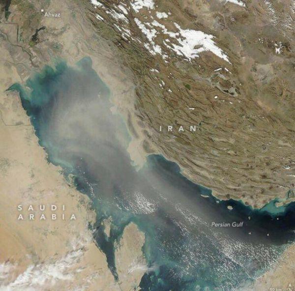 تصویر ناسا از گردوغبار خوزستان