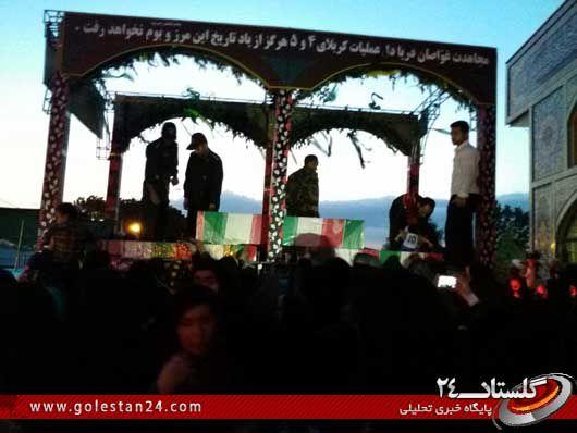 استقبال از شهدای غواص در رامیان (5)