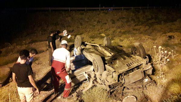 واژگونی وانتبار در شرق گلستان ۹ مصدوم برجای گذاشت