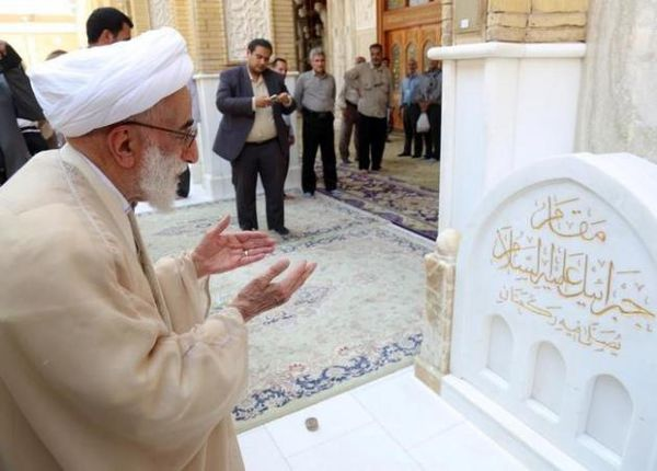 تصاویر/ آیت الله جنتی در مسجد کوفه