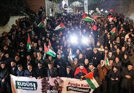 فیلم/ تظاهرات مردم ترکیه در رد «معامله قرن»