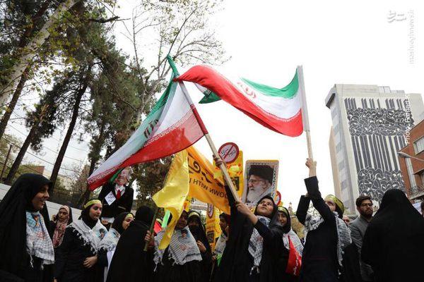 فیلم/ قرائت قطعنامه مراسم راهپیمایی 13 آبان