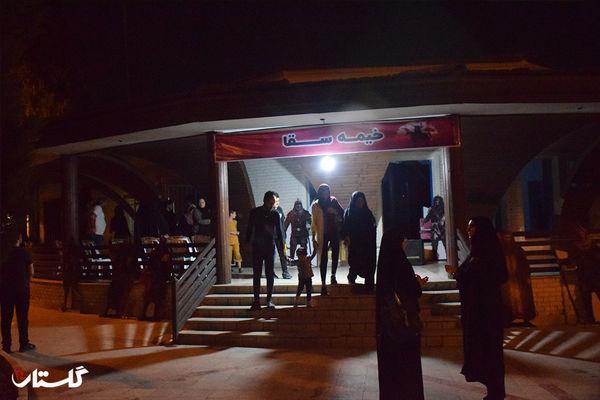 دومین شب  اکران  فیلم صحنه شهادت حضرت عباس (ع) در پارک شهر گرگان