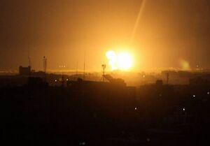 فیلم/ حمله هوایی صهیونیستها به غزه