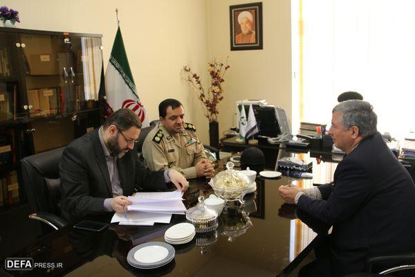 مدیرکل حفظ آثار دفاع مقدس گلستان با معاون استاندار گلستان دیدار کردند