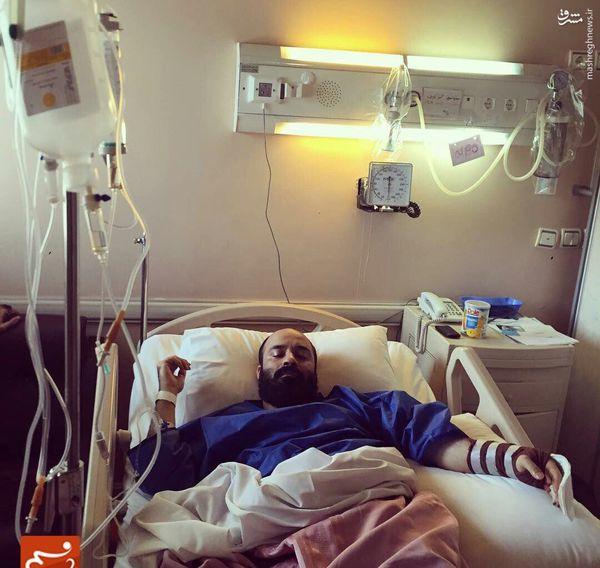 عکس/ عبدالرضا هلالی روی تخت بیمارستان