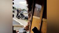 فیلم/ موتورسواری که از دیوار رد شد
