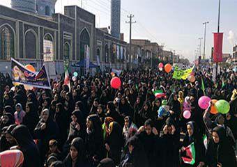 تصاویر/ راهپیمایی حماسی 22 بهمن در شهر خان ببین