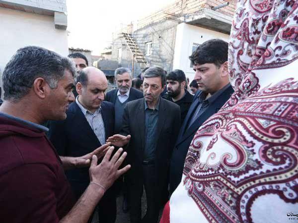 بازدید رییس بنیاد مستضعفان از مناطق سیلزده شهرستان آق قلا