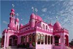 تنها مسجد صورتی دنیا+تصاویر
