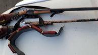 کشف ۵ قبضه سلاح شکاری غیرمجاز در رامیان