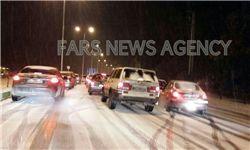 بارش شدید برف در گرگان+  عکس