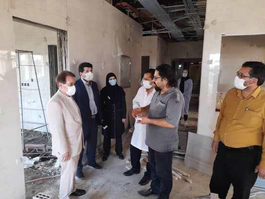 بازدید مدیر درمان تامین اجتماعی گلستان از فرایند بازسازی بیمارستان گنبدکاووس
