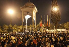 مراسم شب احیا نوزدهم ماه مبارک رمضان در امامزاده عبدالله گرگان