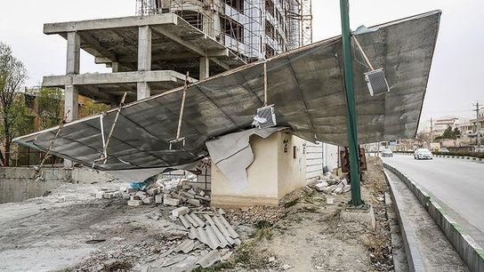 تصاویری وحشتناک از خسارات طوفان در ارومیه