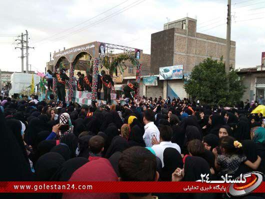 استقبال از شهدای غواص در رامیان (7)