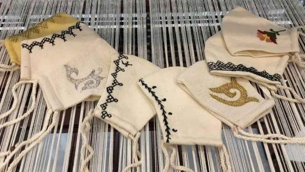تلفیق ماسک با صنایع دستی/تولید ماهانه ۴۵۰۰ ماسک کاملاً سنتی در گلستان