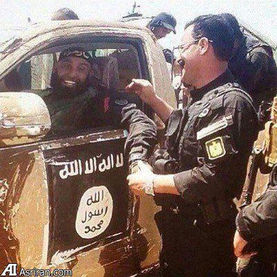 ابوعزرائیل سوار بر خودروی داعشی ها/عکس