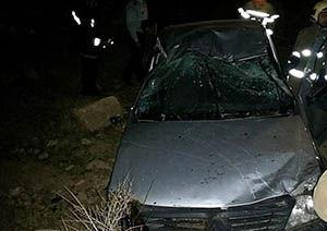سقوط خودرو و مصدوم شدن ۴ نفر در گلستان