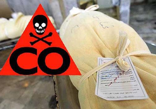 تلفات مسمومیت با گاز مونوکسیدکربن در گلستان