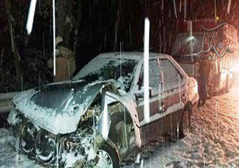 تصاویر/ تصادف در پارک ملی گلستان یک مصدوم بر جای گذاشت