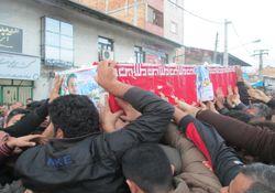 مراسم استقبال از شهید سجاد پورجباری در بندرگز برگزار شد+تصاویر