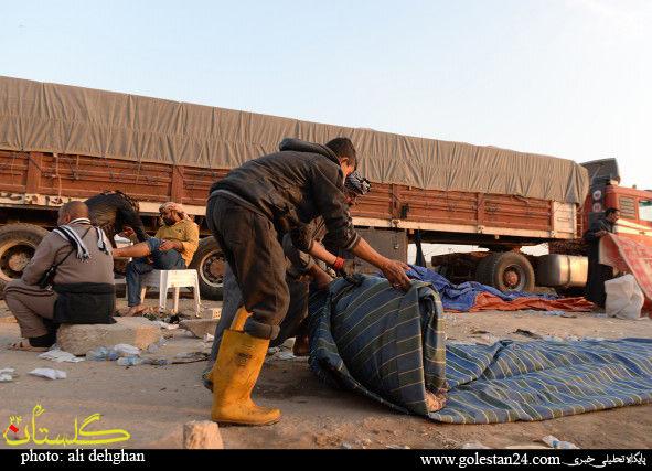 عکس هایی از جمع اوری موکب ها در عراق شماره یک