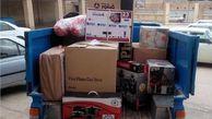 توزیع بیش از 100 بسته لوازم خانگی هدیه رهبری بین سیل زدگان گمیشانی