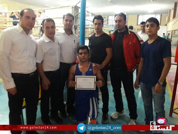 مسابقات بوکس قهرمانی جوانان استان گلستان در علی اباد کتول برگزار شد