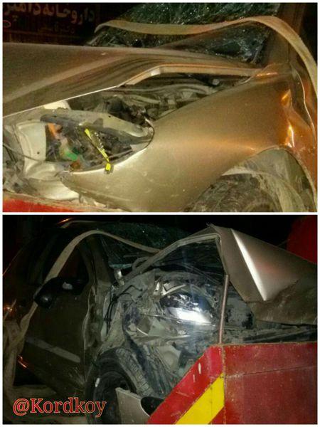 تصادف 206 در کردکوی یک کشته و چهار مصدوم برجای گذاشت+عکس