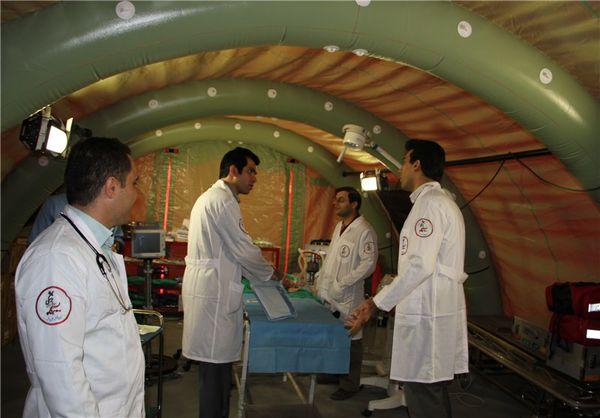 سومین بیمارستان صحرائی در منطقه محروم گلیداغ مراوهتپه راهاندازی میشود