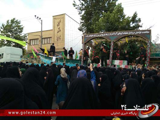 استقبال از شهدای غواص در رامیان (2)