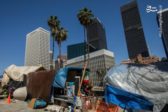 فیلم/ بیخانمانهای قطب اقتصادی آمریکا