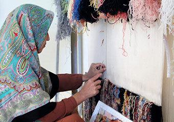 نقش فرش ریز بافت ترکمن در اقتصاد مقاومتی + تصاویر