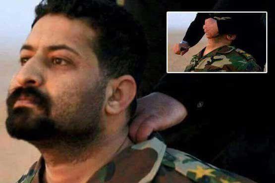 واکنش سرباز عراقی پیش از اعدام بهدست داعش +عکس
