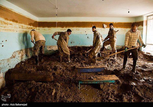 ۱۳۵۲ گروه جهادی در مناطق سیلزده استان گلستان فعالیت میکنند