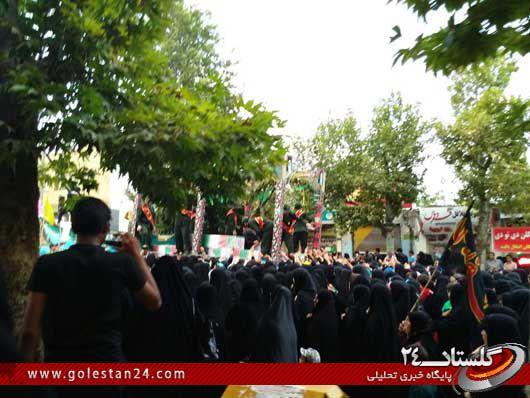 استقبال از شهدای غواص در رامیان (1)