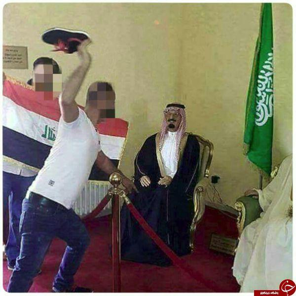 استقبال از ملک فهد با لنگه کفش+ عکس