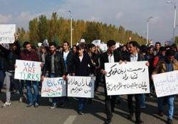 سوء استفاده و فوکوس رسانه های بیگانه بر اعتراضات آذری ها + فیلم و عکس