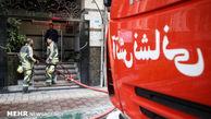 آتش سوزی بخش بایگانی ساختمان تأمین اجتماعی گلستان
