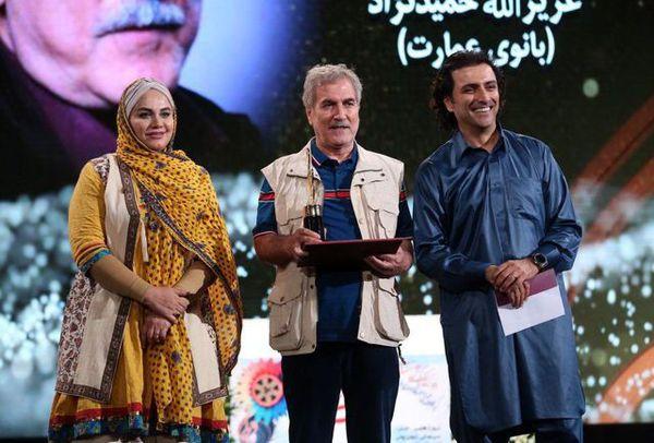 بازیگر مرد مشهور در جشن حافظ لباس بلوچی پوشید + عکس