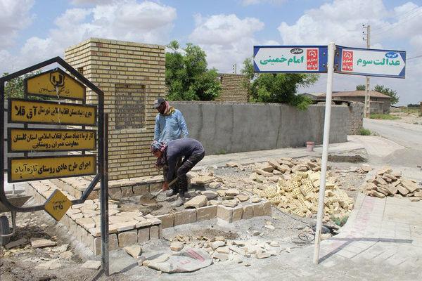 افزایش طرحهای عمرانی در روستاهای سیلزده آققلا