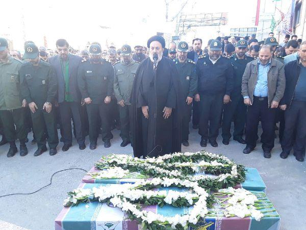برگزاری مراسم تدفین شهدای گمنام در گلستان