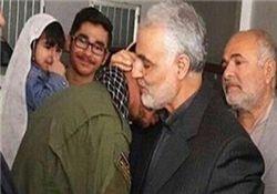 حاج قاسم به دیدار خانواده شهید محسن خزایی رفت+عکس