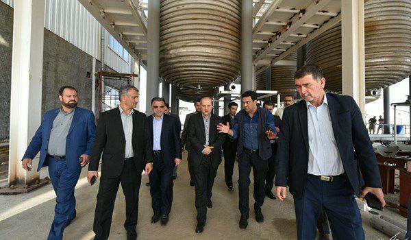 بازدید استاندار گلستان از کارخانه «بانیار پلیمر» در شهرک صنعتی گنبدکاووس  + تصاویر